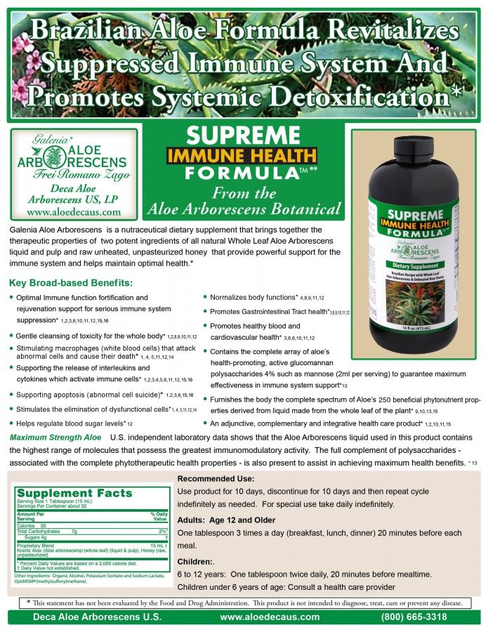 Aloe Arborescens Health Brochure